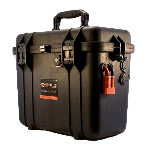 Batteria LITIO Li Fe Po4 50A 24V +12V PORTATILE top loader black