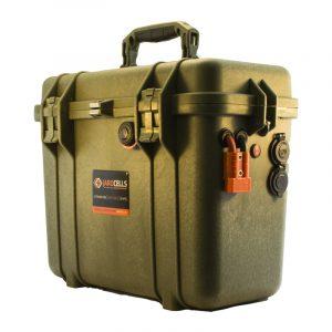 Batteria LITIO Li Fe Po4 50A 12V PORTATILE storm case color